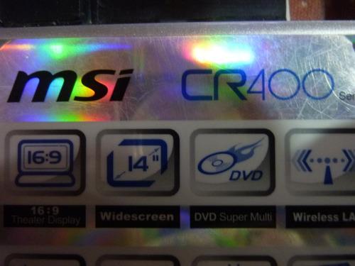 cover tapa de base inferior para notebook msi cr400