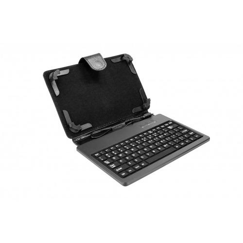 cover xtf-100 8 , con teclado microusb, negro.