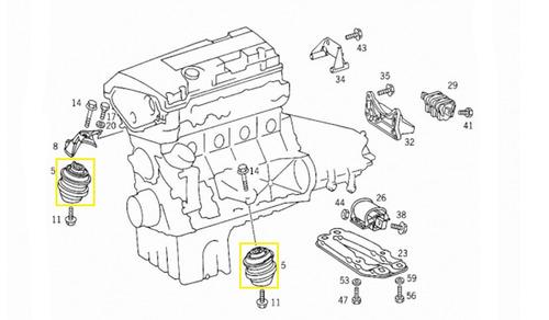coxim motor mercedes slk 200 komprressor 1996- 2002 original
