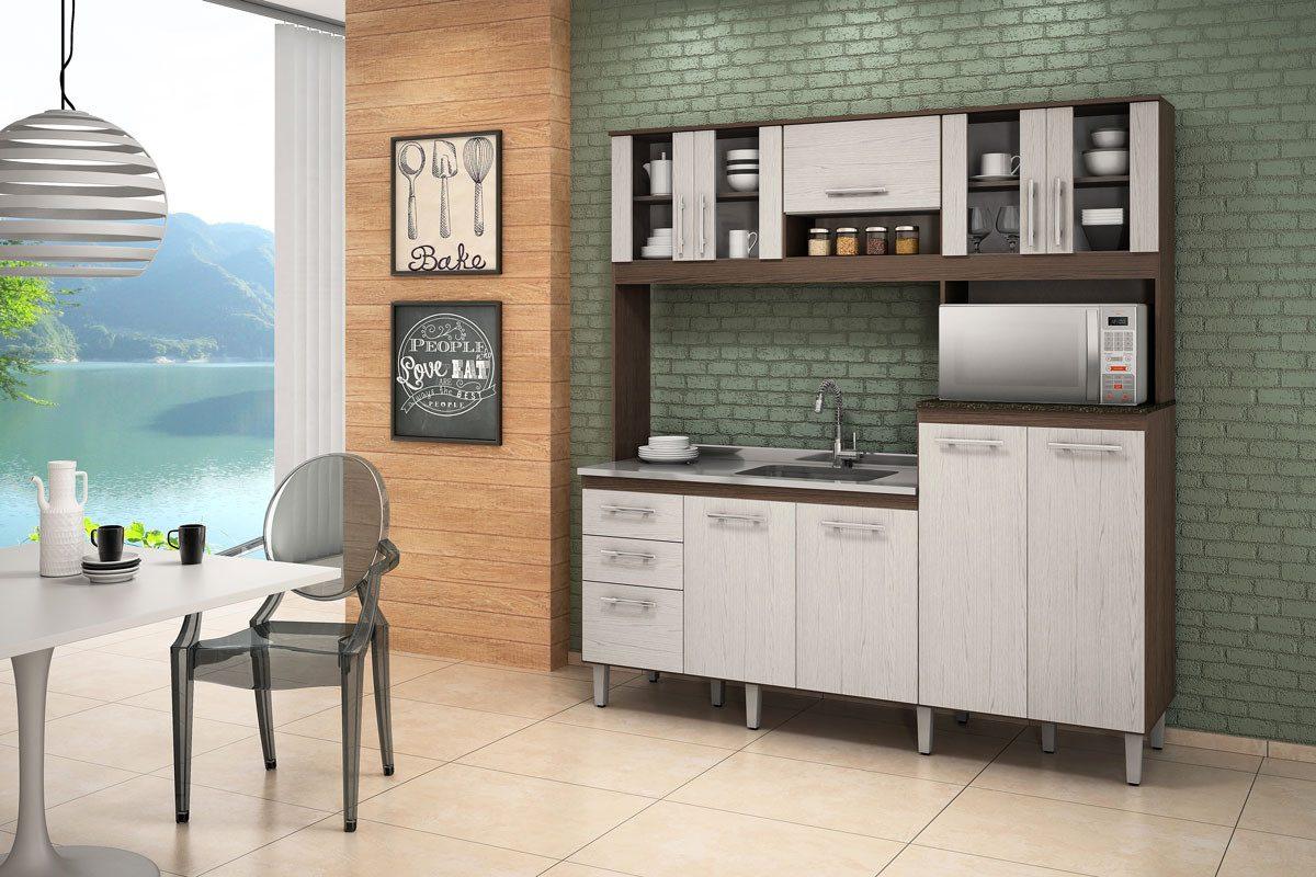 Cozinha 10 Portas Compacta Para Pia 100 Mdf Nicioli R 869 00 Em