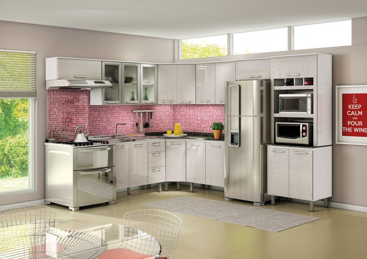 Cozinha De Canto Planejada Apartamento Dorm Cozinha Planejada