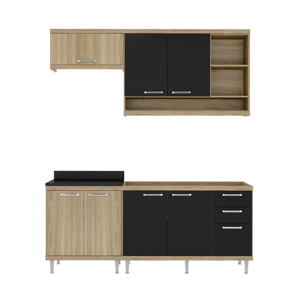 Cozinha 4 M Dulos Argila Texturizado Preto Multim Veis R 1 037 90