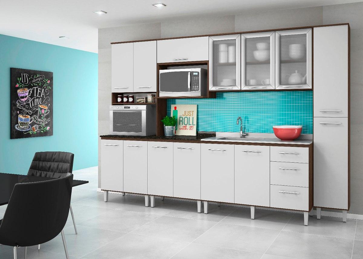 Cozinha Audacia Completa Am Ndoa Branco 100 Mdf Nicioli R 1 499