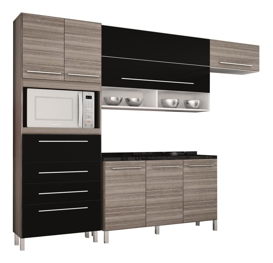 Cozinha Bartira Glamour Com 8 Portas E 3 Gavetas R 1 152 48 Em