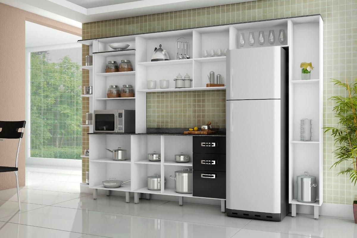 Armário De Cozinha Com Balcão Com Tampo 05 Peças R$ 699 00 em  #9C872F 1200x800