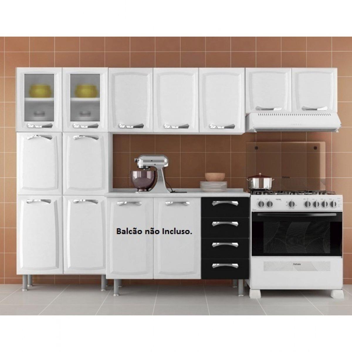 Cozinha Compacta 3 Pe As 2 Portas Em Vidro Premium Gj R 1 039 90