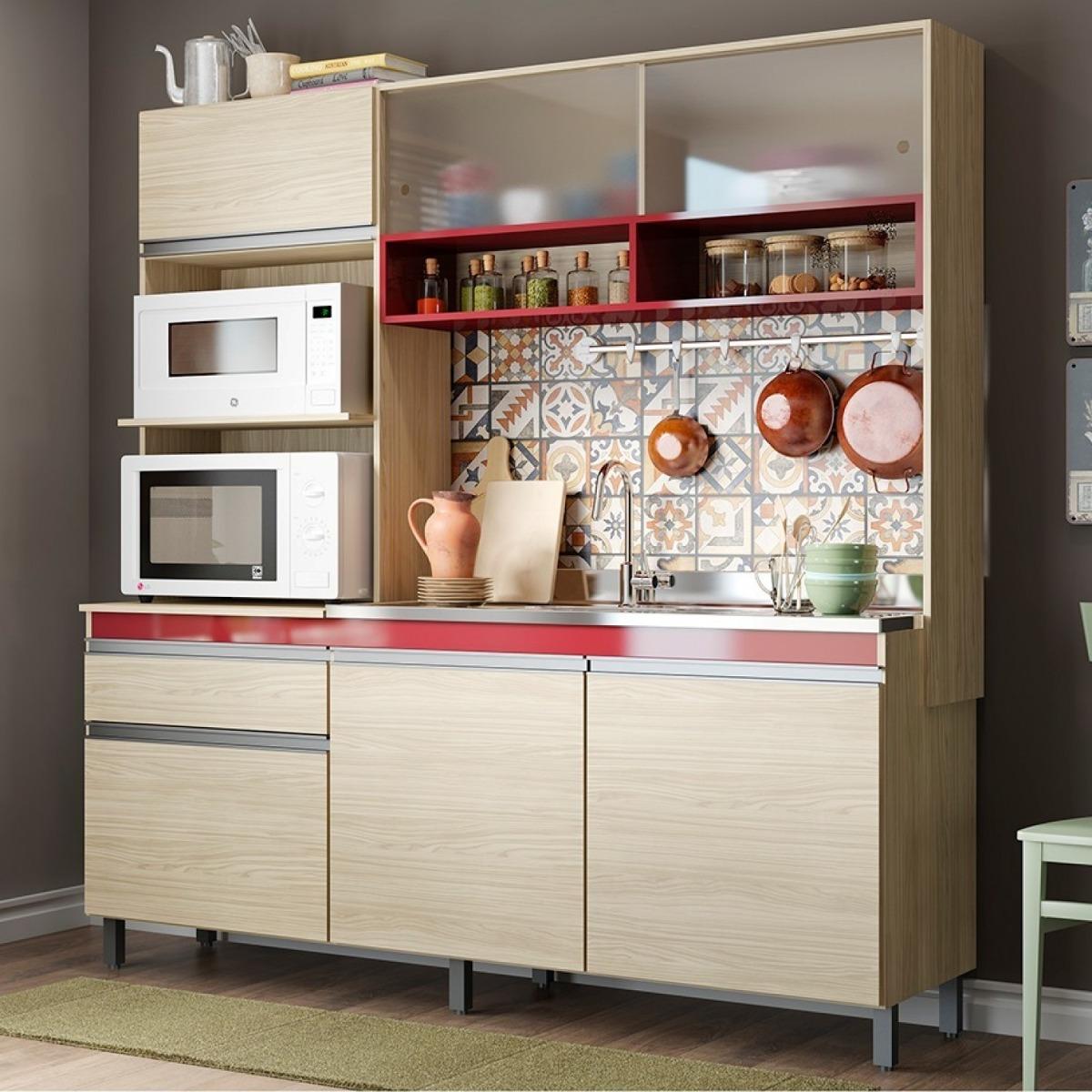Cozinha Compacta 3 Pe As 248 Carina Casamia N O Aco Jewt R 729
