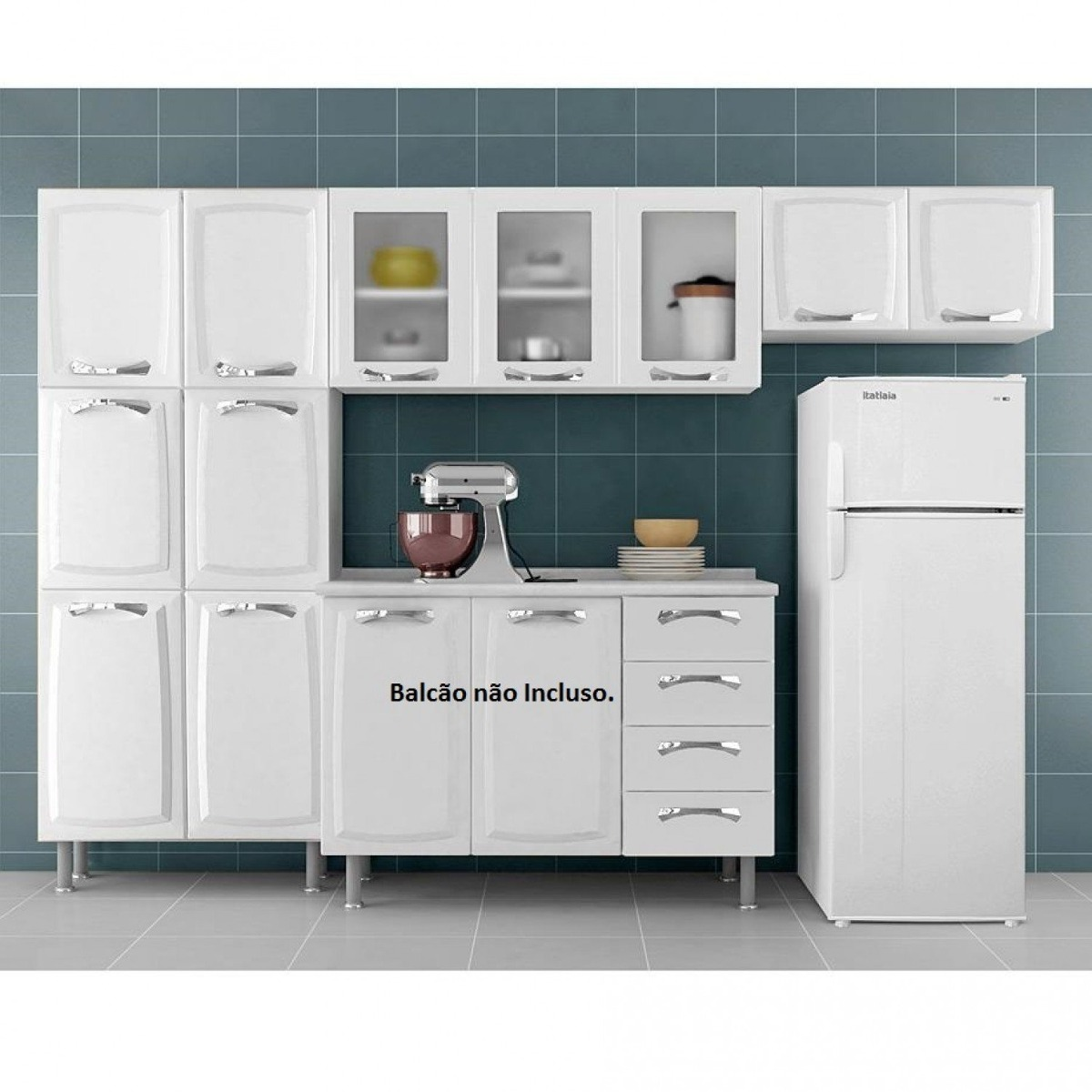 Cozinha Compacta 3 Pe As 3 Portas Em Vidro Premium Dd R 1 059 90