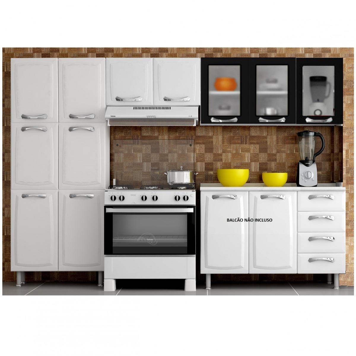Cozinha Compacta 3 Pe As 3 Portas Em Vidro Premium Ec R 1 059 90