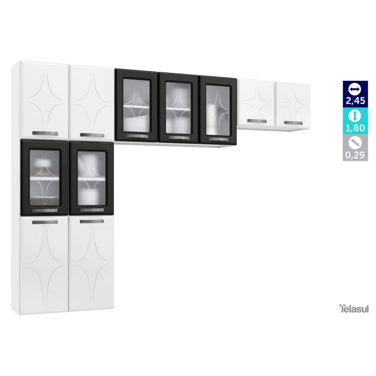 Cozinha Compacta 3 Pe As 5 Portas De Vidro Sem Hi R 629 90 Em