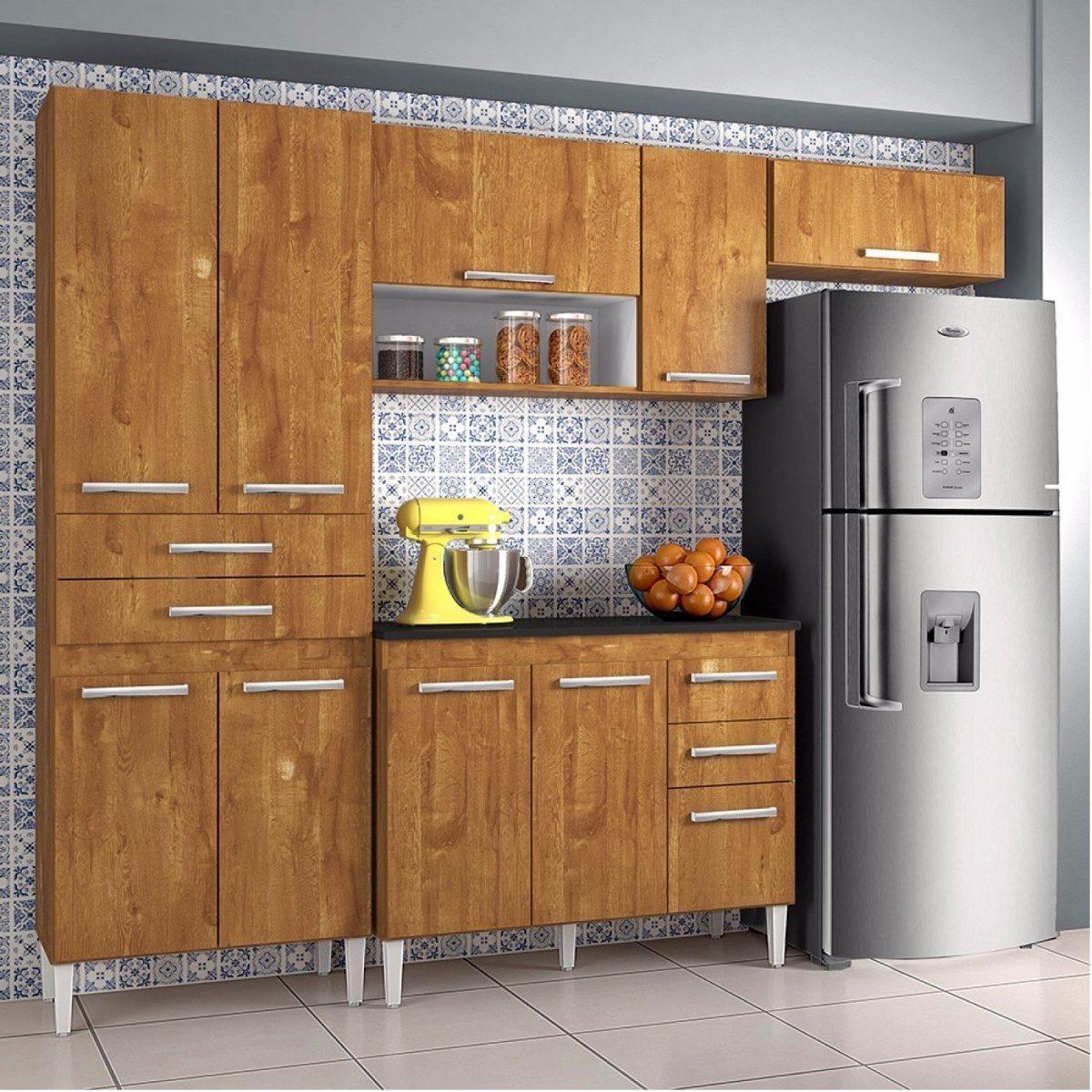 Cozinha Compacta 3 Pe As 7 Portas 2 Gavetas Tamara Bcwt R 518 30