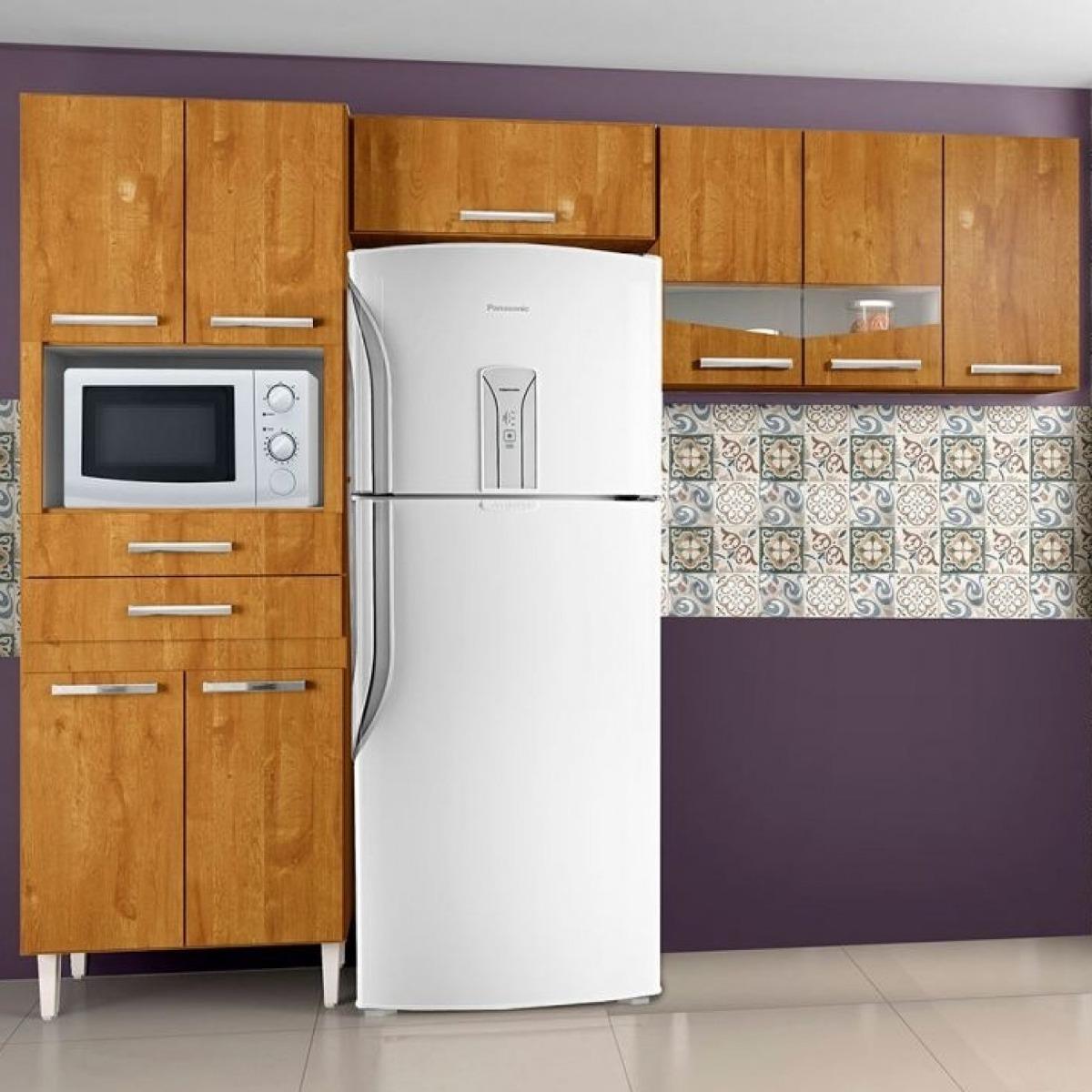 Cozinha Compacta 3 Pe As 8 Portas 2 Gavetas L Via Chf Hwt R 527