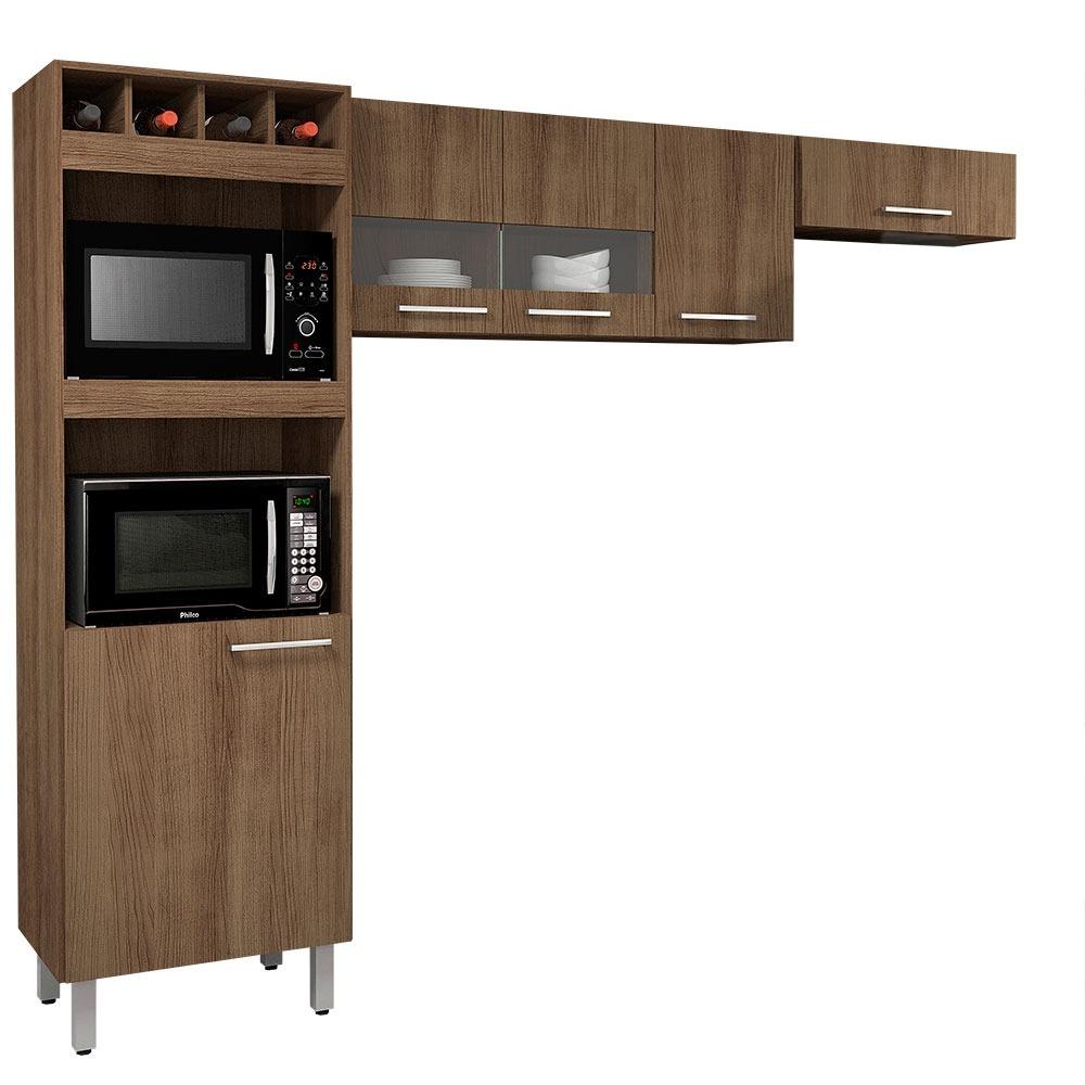 Cozinha Compacta 3 Pe As C 5 Portas E Nichos Movemax Julia R