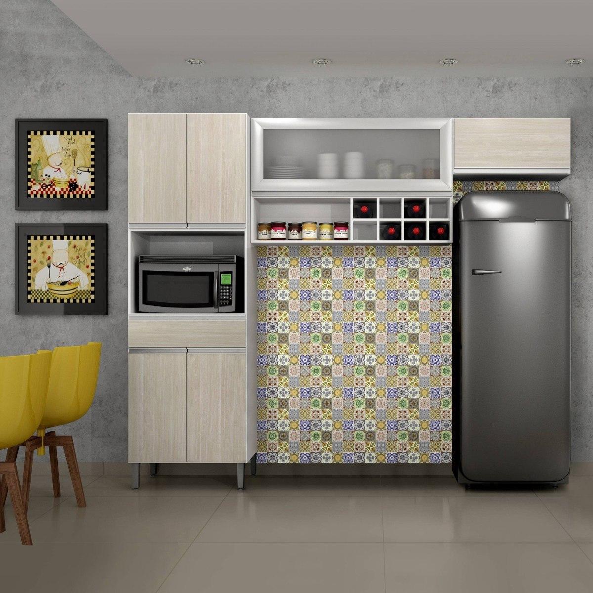 Cozinha Compacta 3 Pe As Com Porta Em Vidro Carrara Gh R 799 90