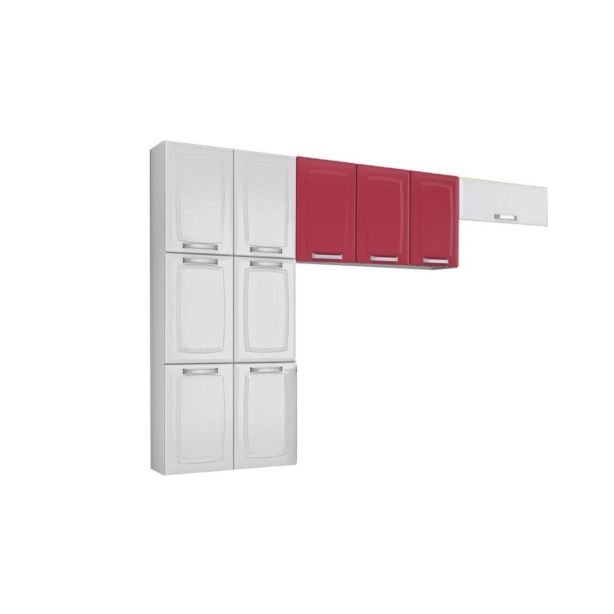Cozinha Compacta 3 Pe As Itatiaia Luce Branco Vermelho Rubi R 699
