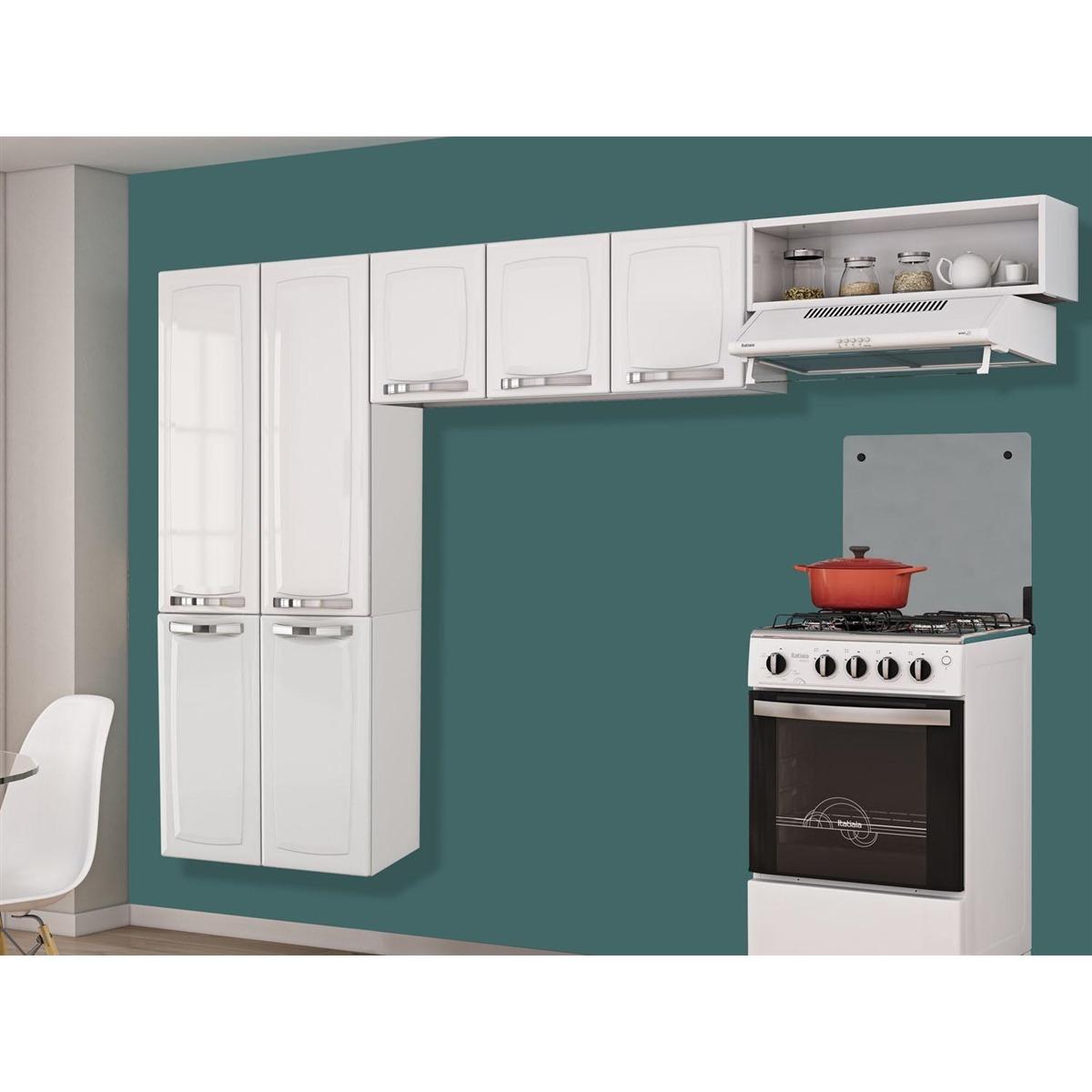 Cozinha Compacta 3 Pe As Itatiaia Rose Branco Neve R 502 95 Em