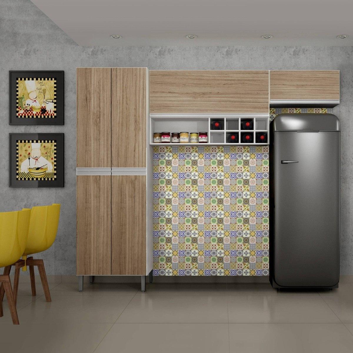Cozinha Compacta 3 Pe As Nicho Adega Floren A Be R 729 90 Em