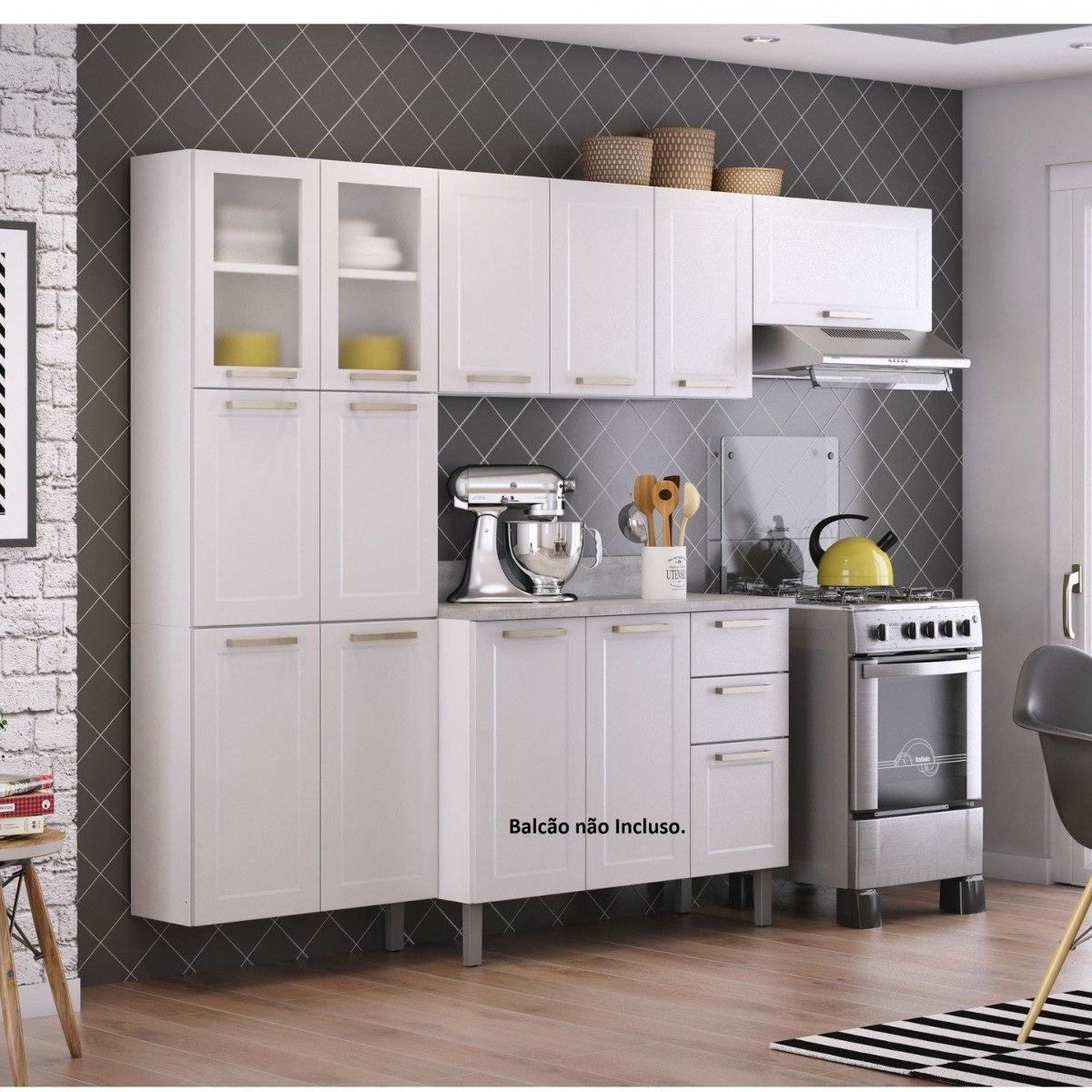 Cozinha Compacta 3 Pe As Sem Balc O 2 Portas Em Eh R 829 90 Em