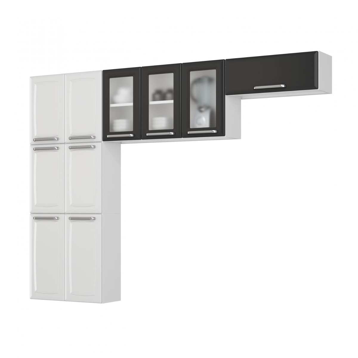 Cozinha Compacta 3 Pe As Sem Balc O 3 Portas De Vidro A R 699 90
