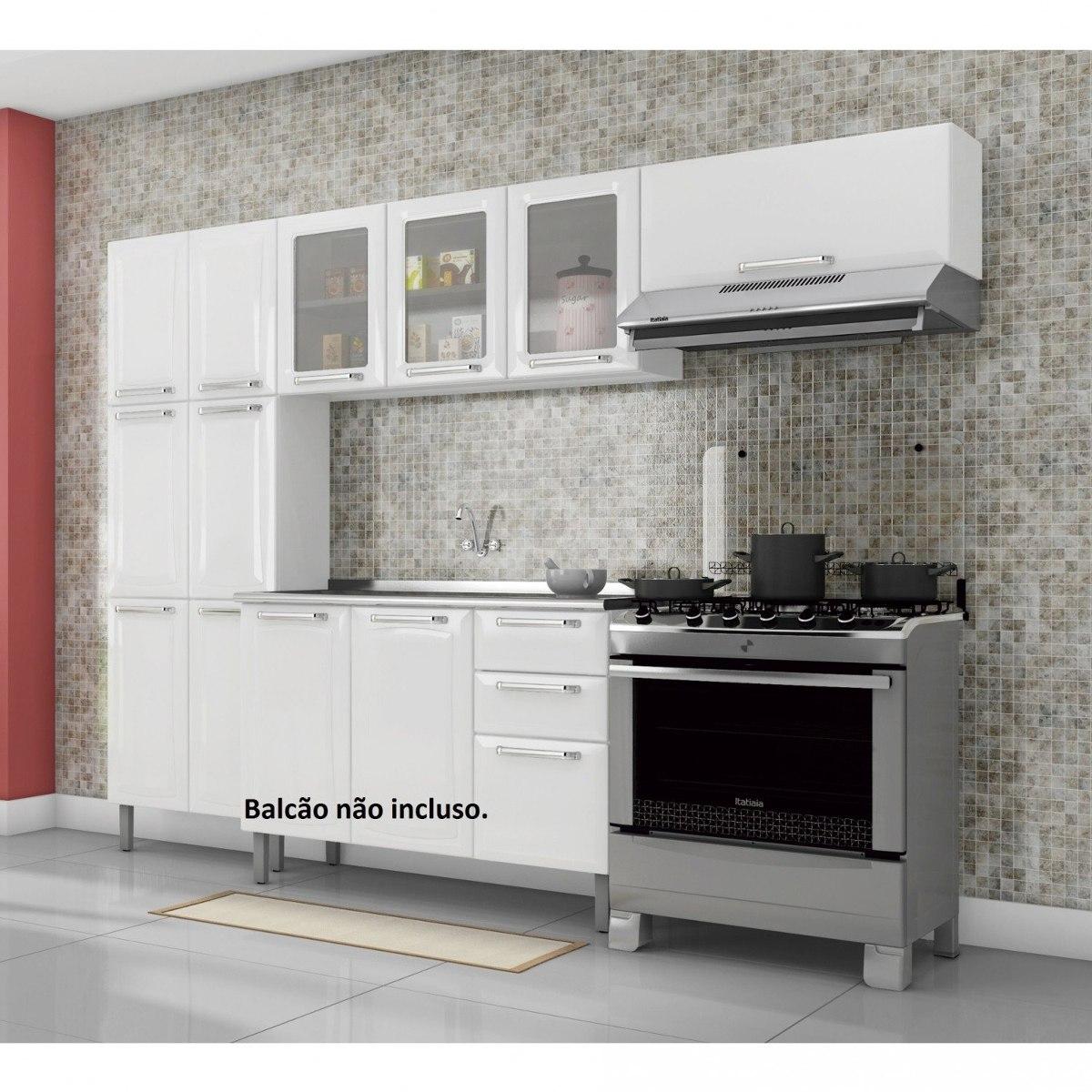 Cozinha Compacta 3 Pe As Sem Balc O 3 Portas Em Fe R 989 90 Em