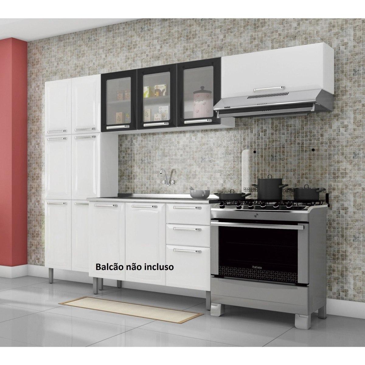 Cozinha Compacta 3 Pe As Sem Balc O 3 Portas Em Ff R 959 90 Em