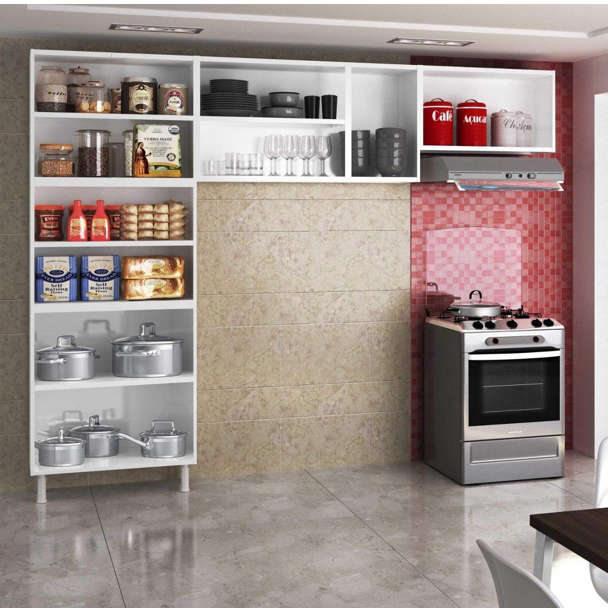 Cozinha Compacta 3 Pe As Sem Balc O Rubi Telasul Hf R 609 90 Em