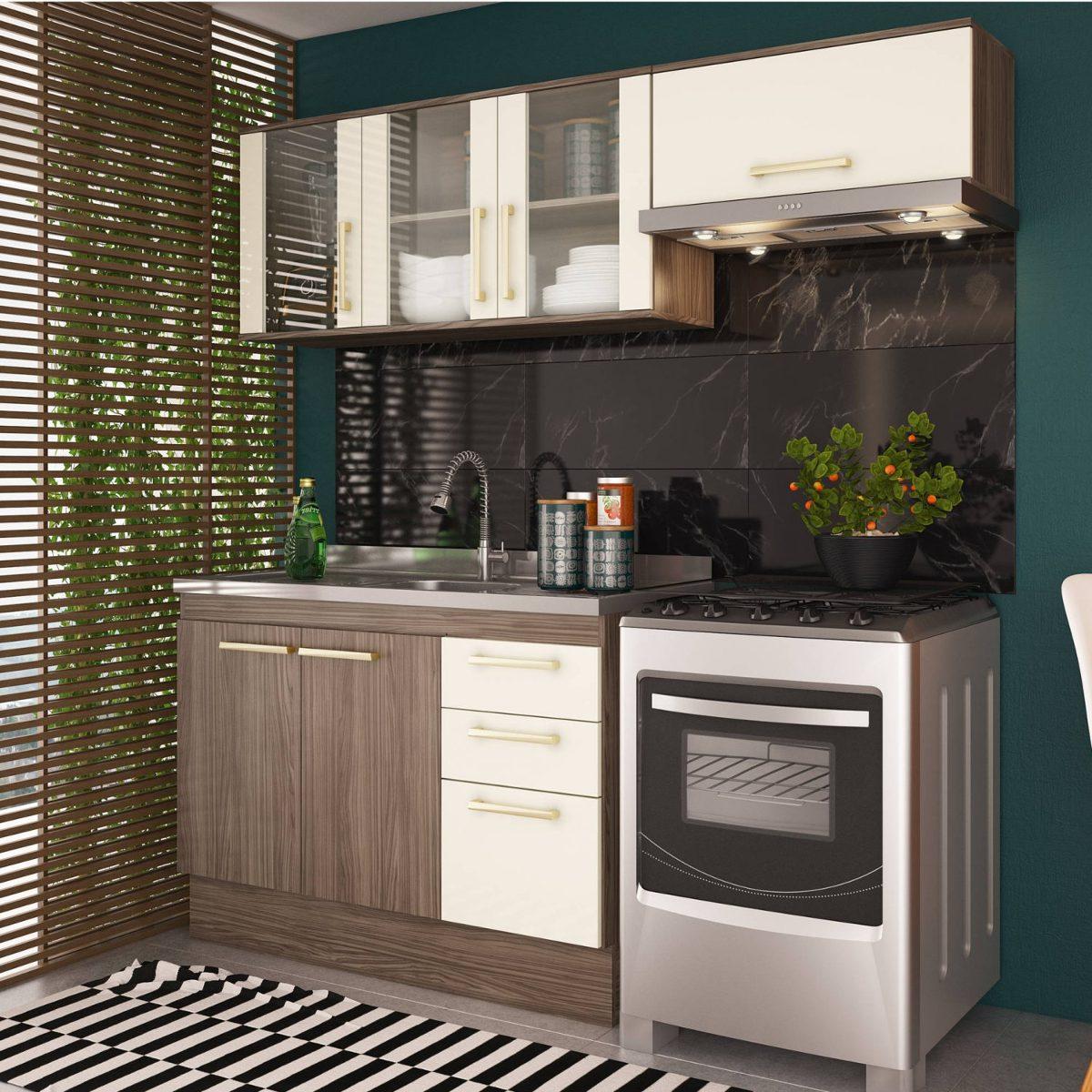Cozinha Compacta 3 Pe As Zafira A1892 Casamia N O Cf R 559 90 Em