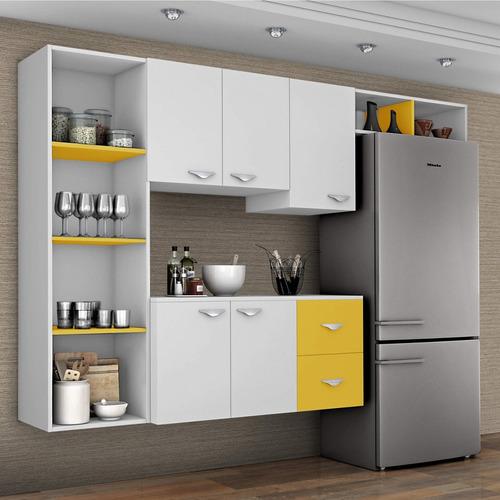 cozinha compacta 4 peças 5 portas anabela siena eawt