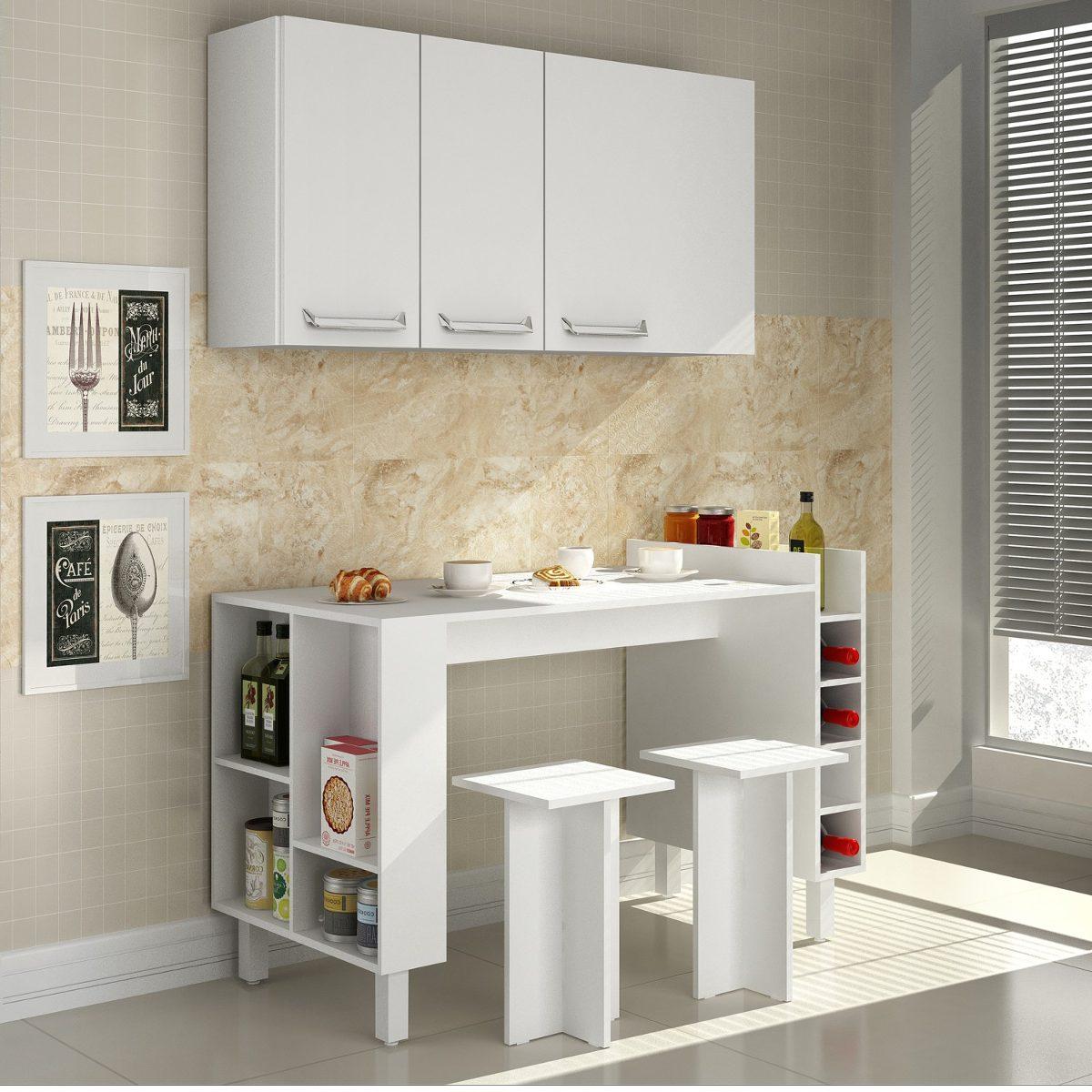 Cozinha Compacta 4 Pe As Com Mesa E 2 Bancos Decari Wt R 681 50