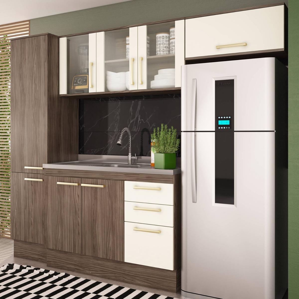Cozinha Compacta 4 Pe As Zafira A1895 Casamia N O Cc R 909 90 Em