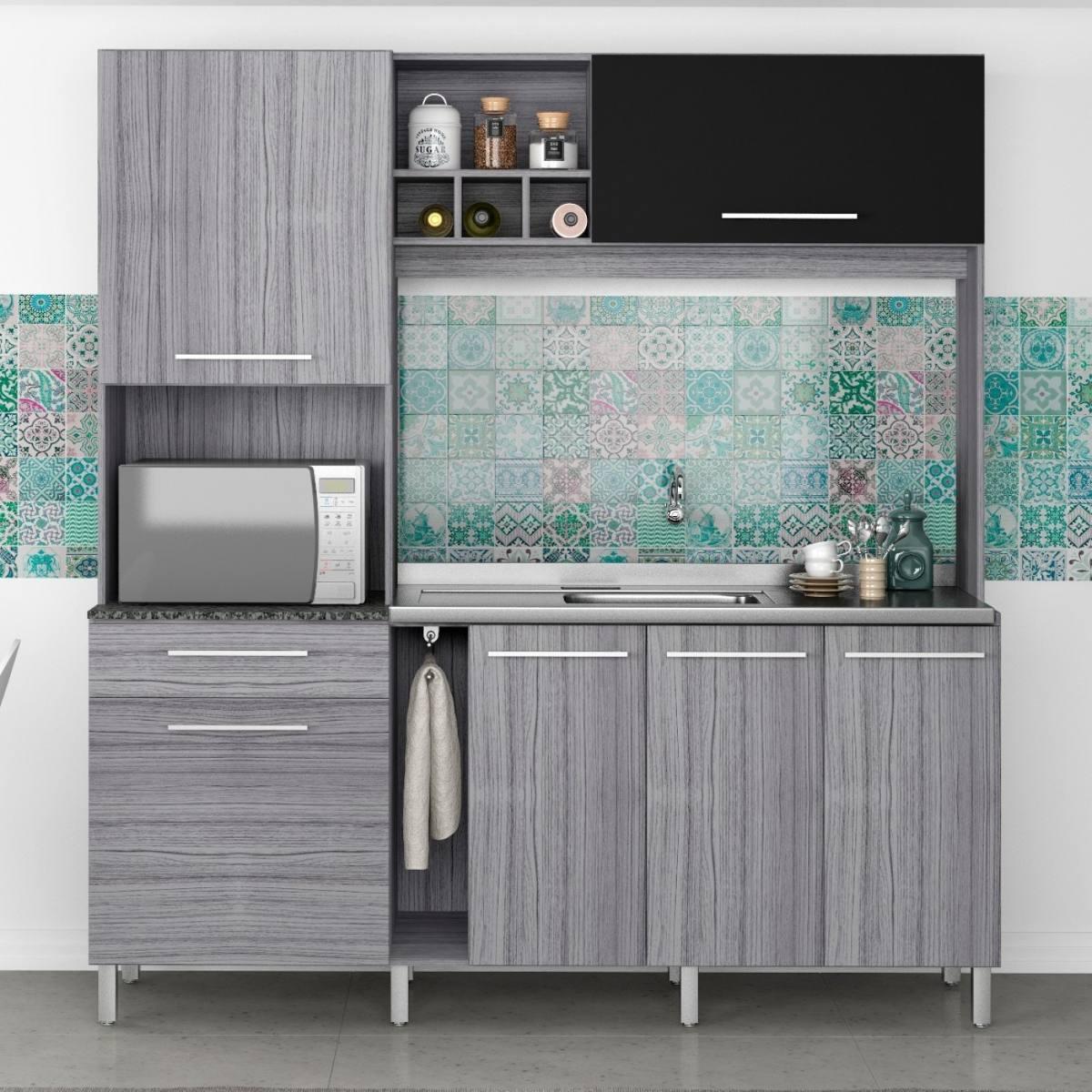 Cozinha Compacta 6 Portas 1 Gaveta P Rola Poliman E R 549 90 Em