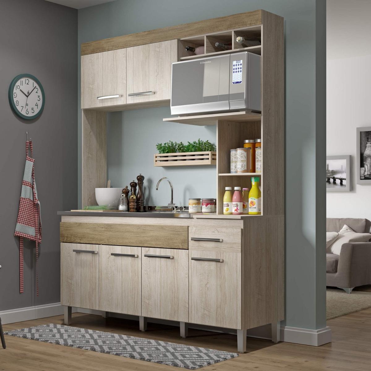 Cozinha Compacta 6 Portas 1 Gaveta Sem Tampo New Fiwt R 355 10 Em