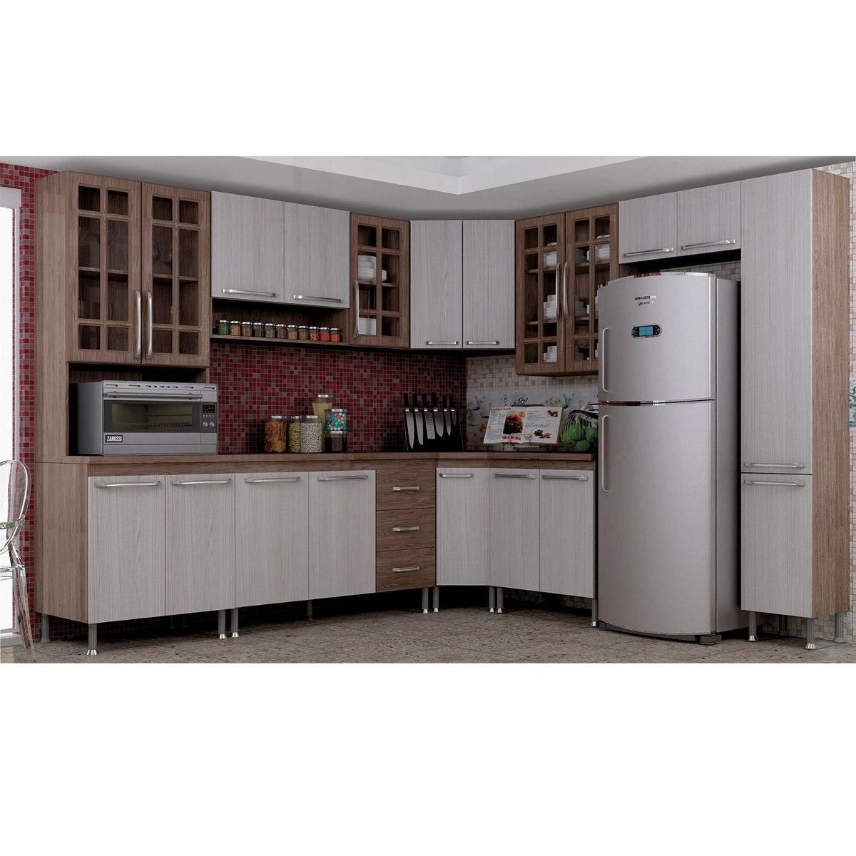 Cozinha Compacta 9 Pe As Mery Indekes Nogal Salina Nogal R 1 890