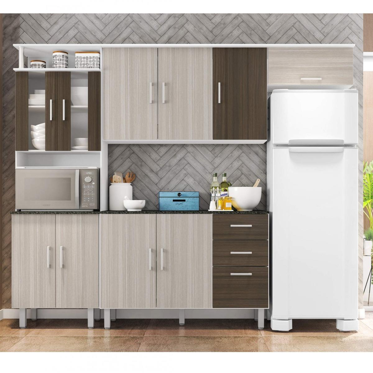 Cozinha Compacta Balc O Com Tampo 120cm 3 Pe As Gewt R 556 70 Em