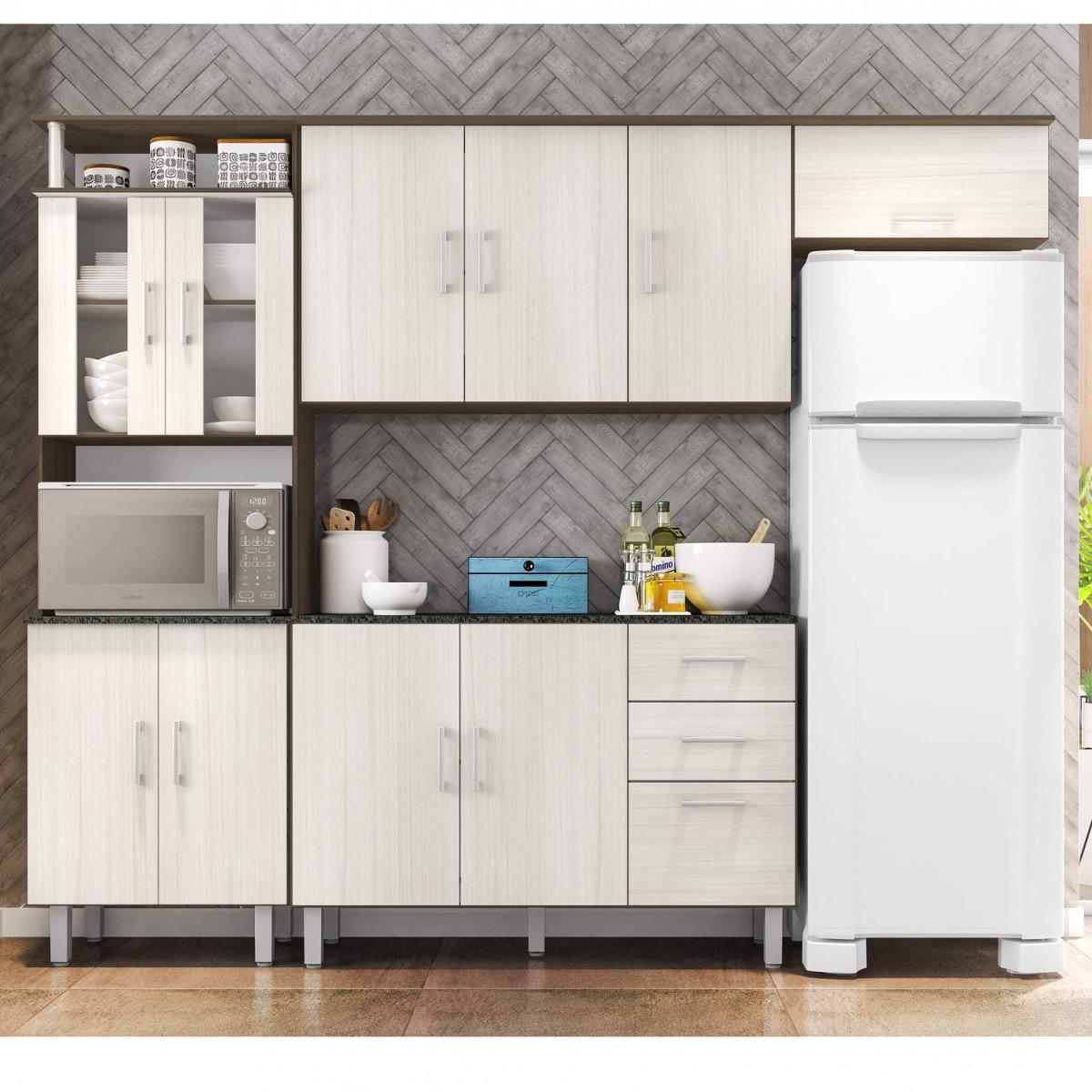 Cozinha Compacta Balc O Com Tampo 120cm 3 Pe As Ggwt R 556 70 Em