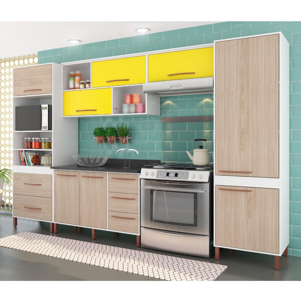 Cozinha Compacta Castanha Paneleiro Arm Rios E Balc O Albat R