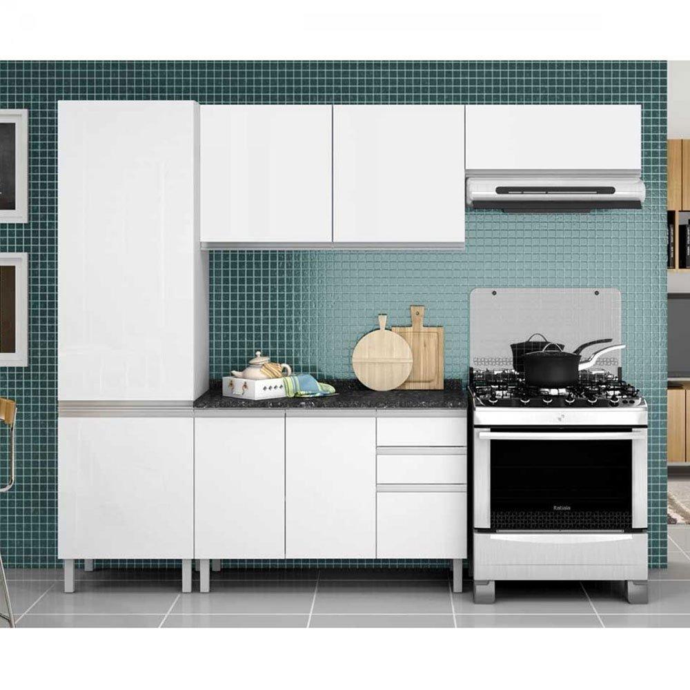 Cozinha Compacta Clarice 7 Portas 3 Gavetas De A O Itatiaia R
