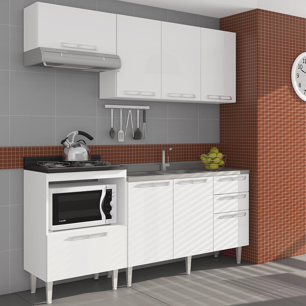 Cozinha Compacta Com 1 Balc O Para Pia 1 Tampo Balc O P Co R