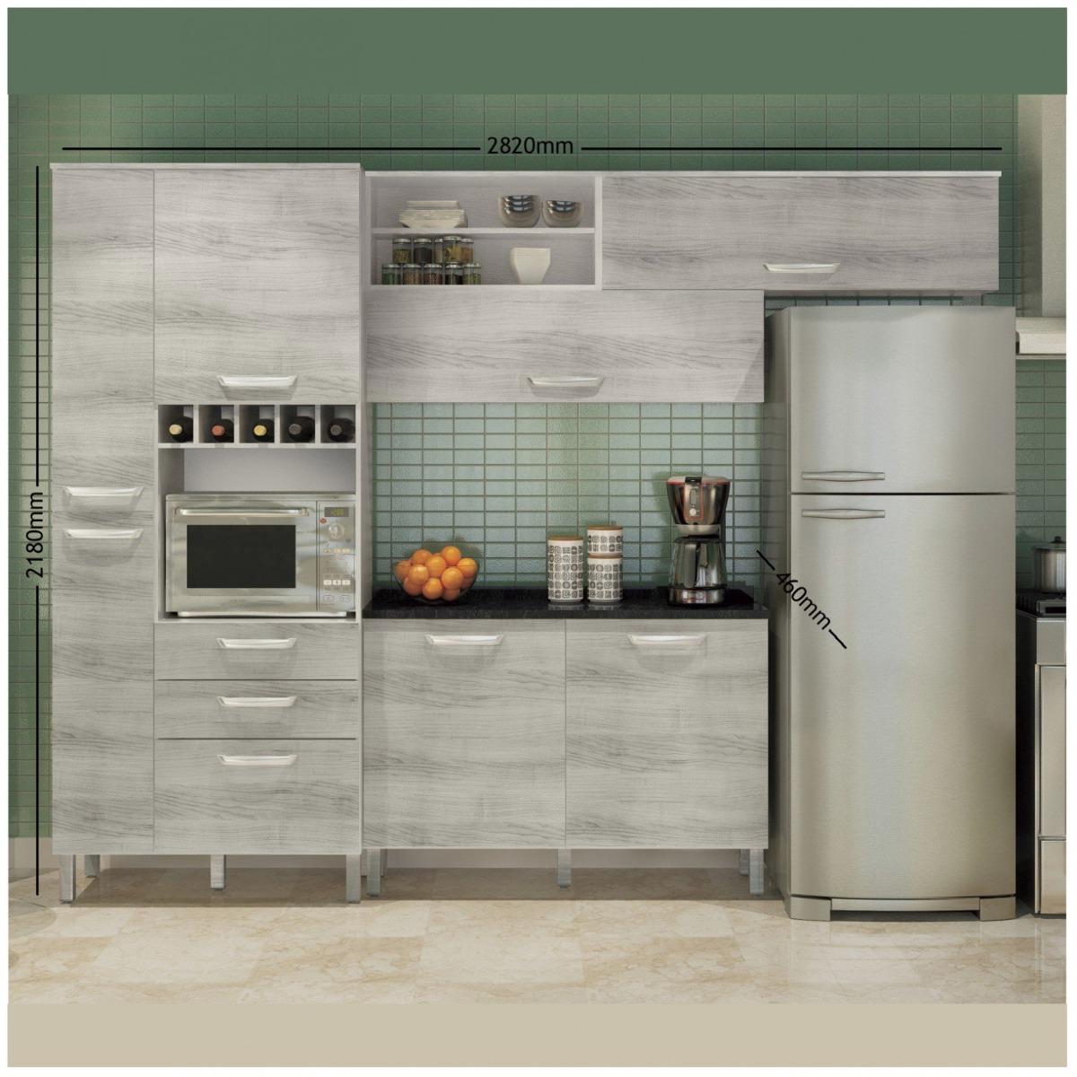 Cozinha Compacta Com Balc O E Tampo 4 Pe As Diva Jg R 1 179 90 Em