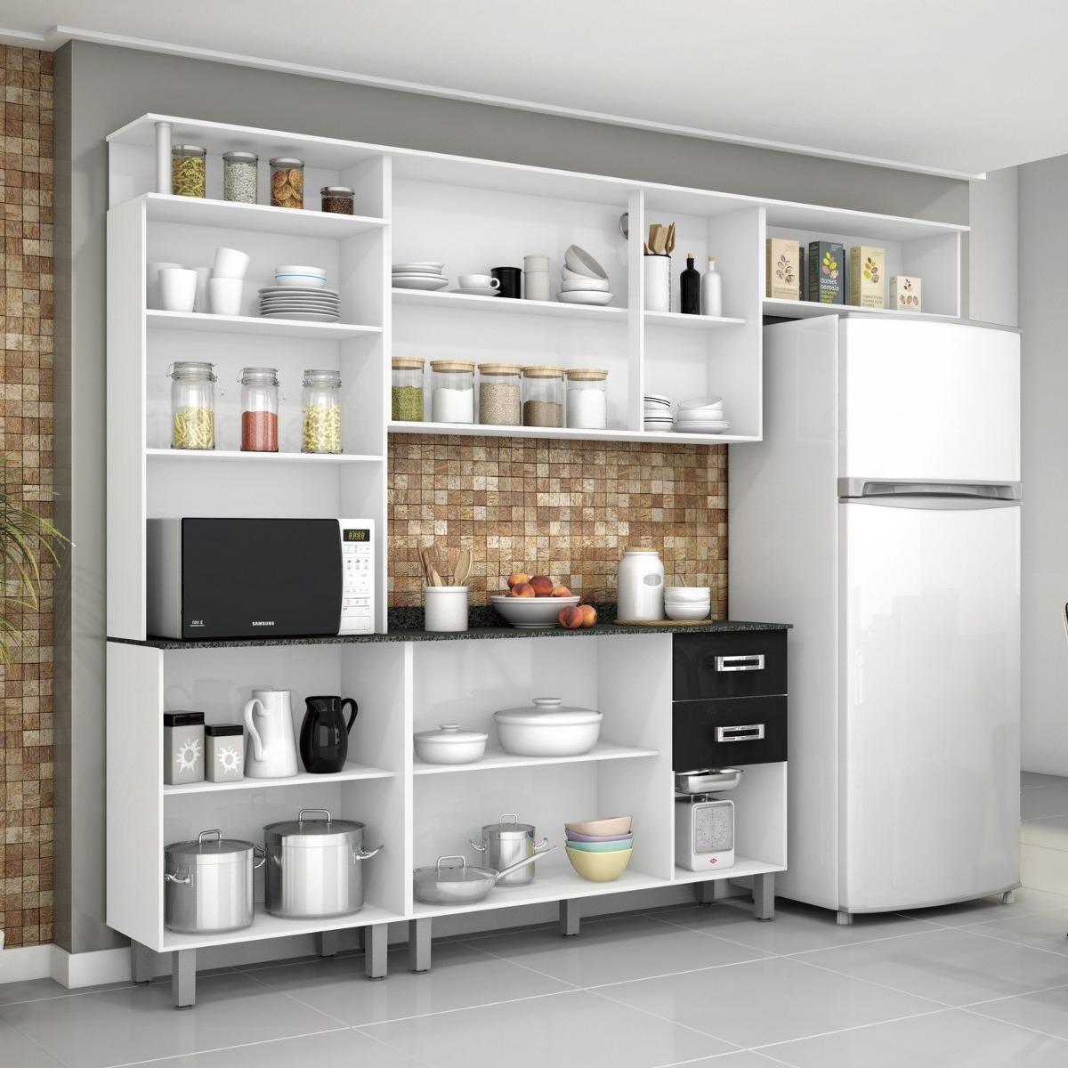 Cozinha Compacta Com Balc O E Tampo 4 Pe As Su A Fcwt R 575 90