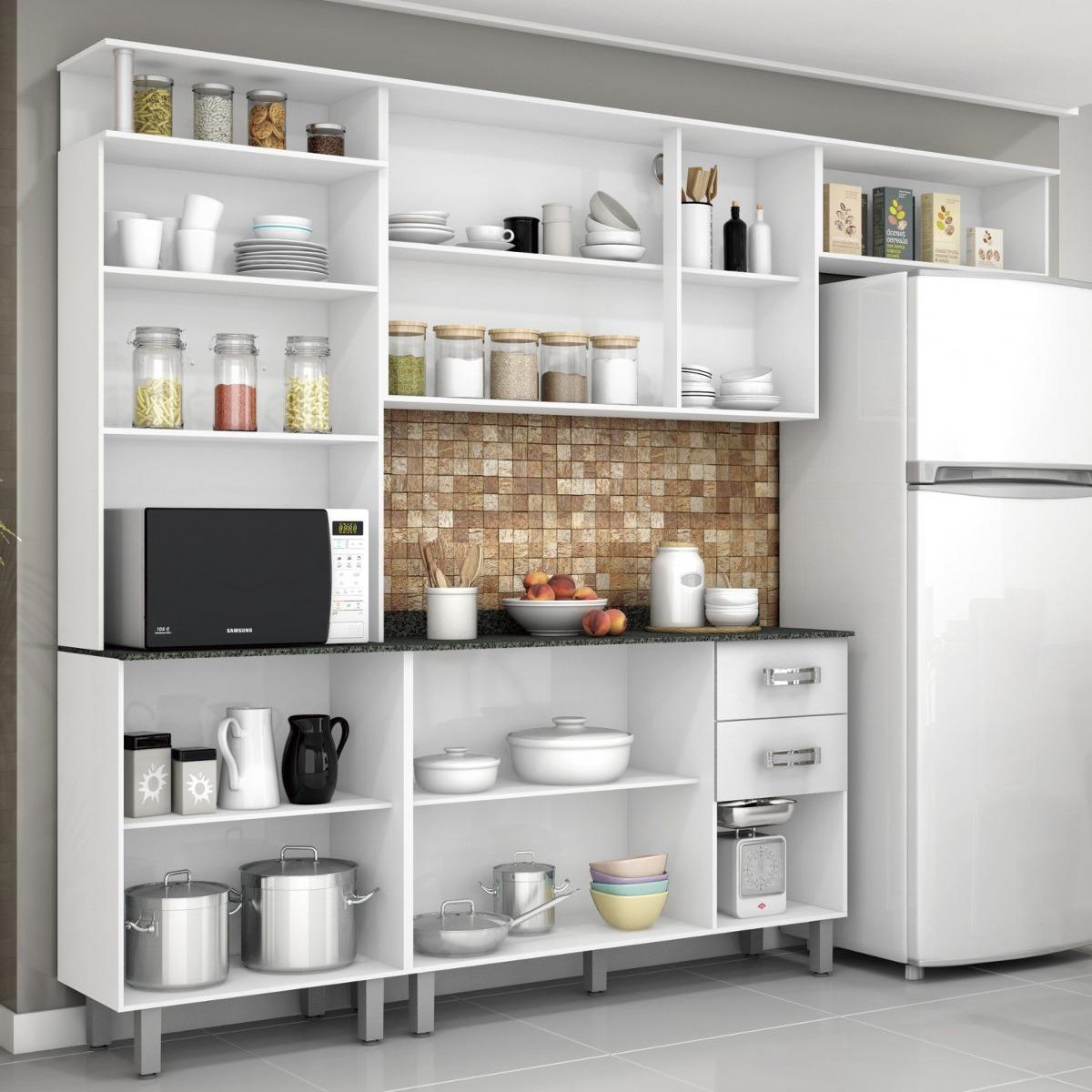 Cozinha Compacta Com Balc O E Tampo 4 Pe As Su A Ffwt R 575 90