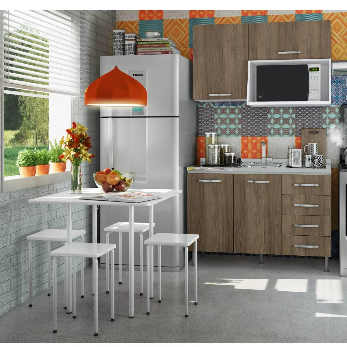 Cozinha Compacta Com Balc O Sem Tampo Mesa E 4 Ibwt R 691 10 Em