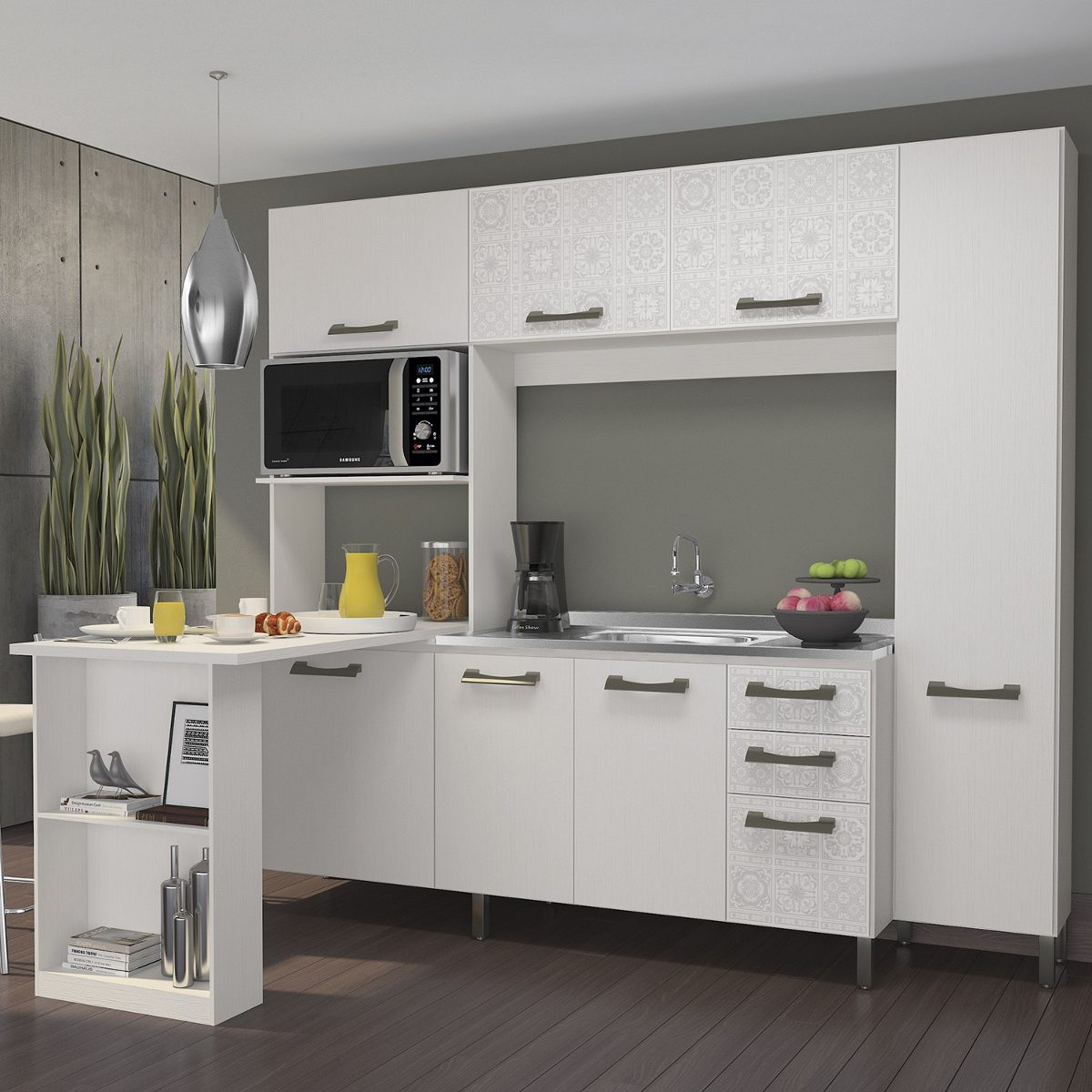 Cozinha Compacta Com Bancada F780 Kappesberg Branco Wt R 1 027 10