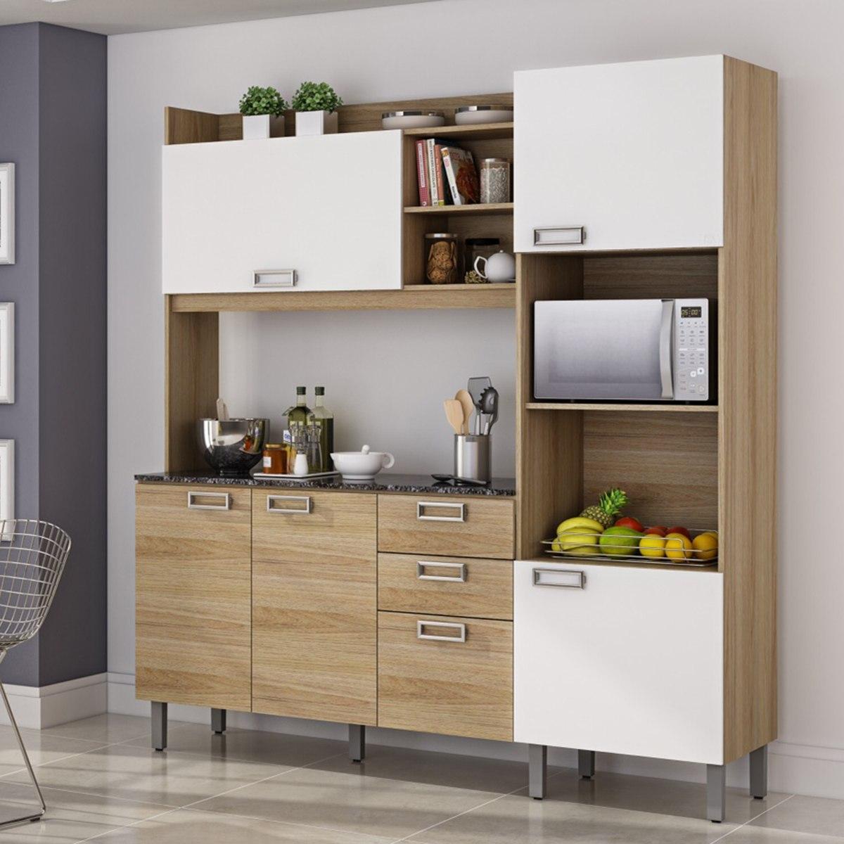 Cozinha Compacta Damasco Itatiaia Carvalho Hanover Branco R 773