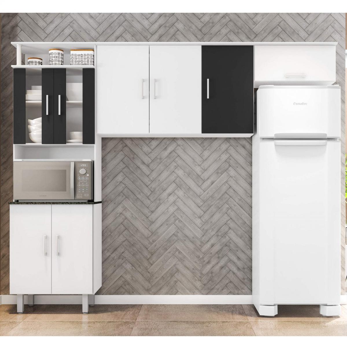 Cozinha Compacta Em L 1 Pe A 8 Portas Sui A Poliman Ibwt R 364 70