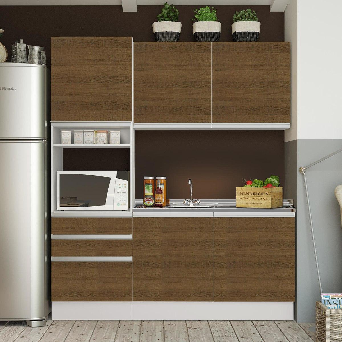 Cozinha Compacta Glamy Madesa N O Acompanha Tampo De Ca R 1 249