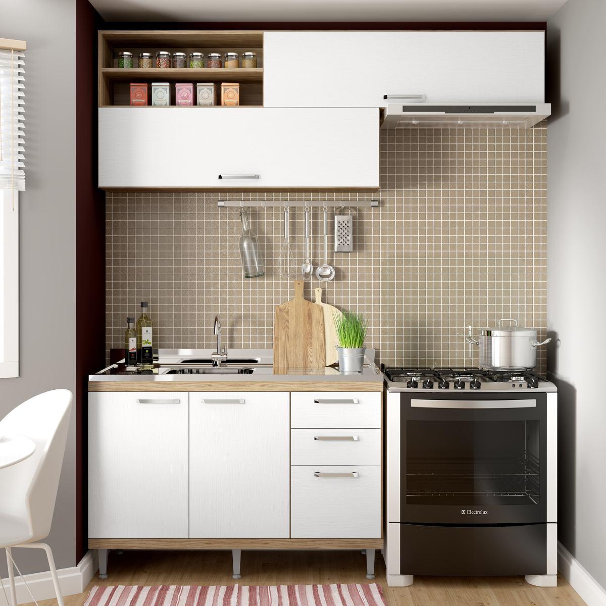 Cozinha Compacta Isis Siena M Veis Argila Branco Ba R 557 90 Em