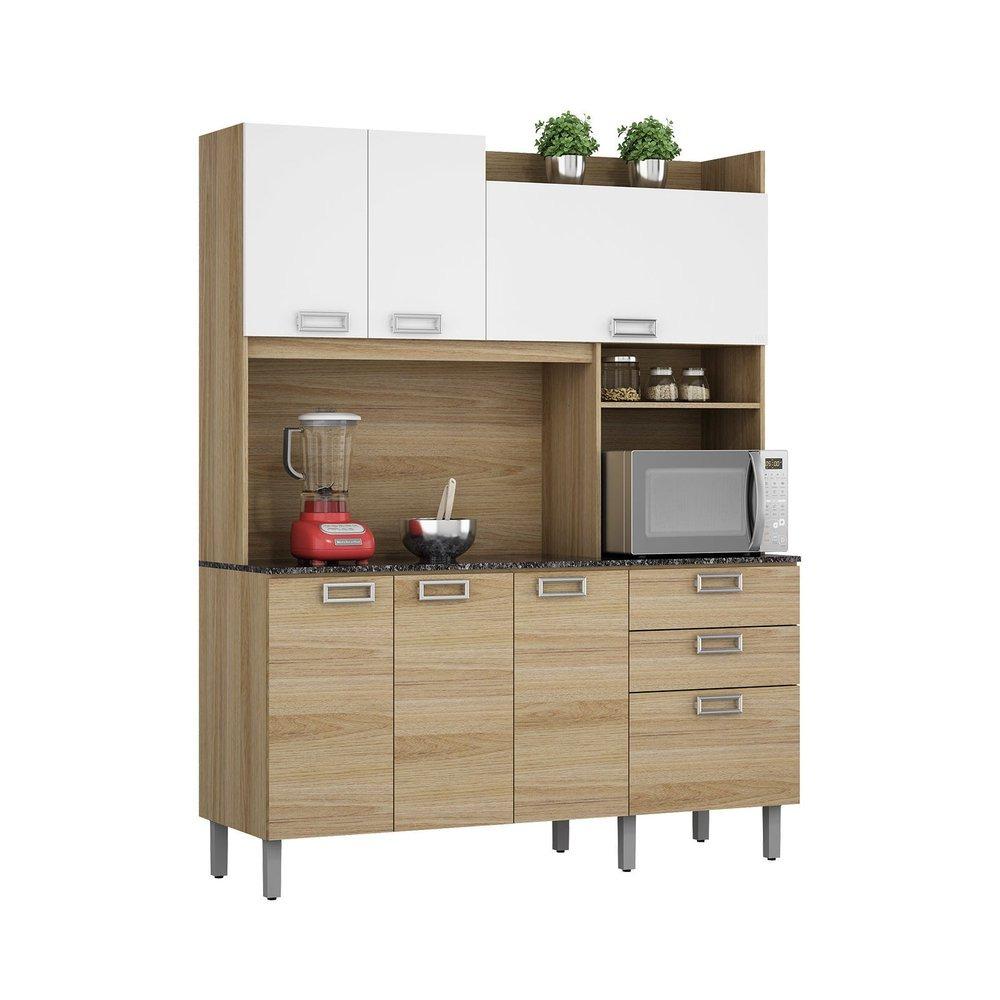 Cozinha Compacta Itatiaia A Ai 7 Ptas 2 Gav Branco Carvalho R 599