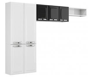 cozinha compacta itatiaia rose - 7 portas aço + balcao