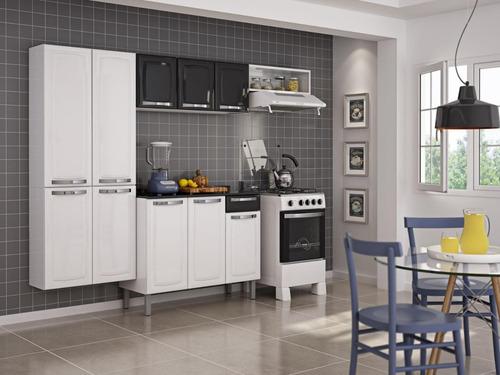 cozinha compacta itatiaia rose  aço com balcão frete grátis